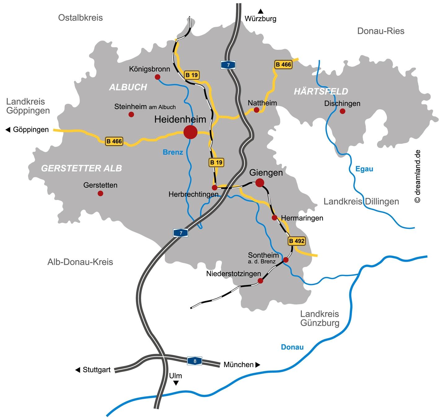 Landkreiskarte Agentur Dreamland 11-2009